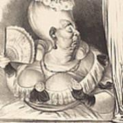 Mlle. Etienne-goconde-cun?gonde-b?cassine Poster