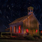 Moab Schoolhouse Star Trails Poster