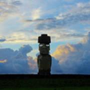Moai Easter Island Rapa Nui Poster