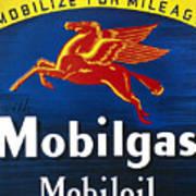 Mobil Advertisement, 1935 Poster