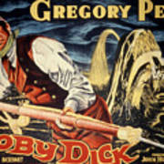 Moby Dick, Gregory Peck, 1956 Poster