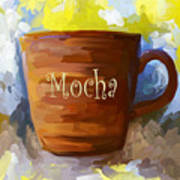 Mocha Coffee Cup Poster