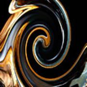 Mocha Swirl Poster