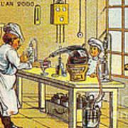Model Kitchen, 1900s French Postcard Poster