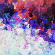 Modern Abstract Painting In Blue Poster