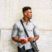 Modern College Student In New York Poster