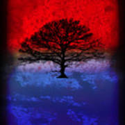 Modern Paintings Abstract Tree Wall Art Poster