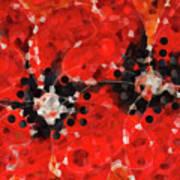 Modern Red Poppies - Sharon Cummings Poster