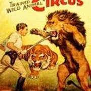 Modern Vintage Circus Poster Poster