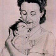 Modona And Baby Poster
