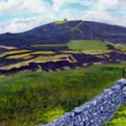 Moel Famau Hill Painting Poster