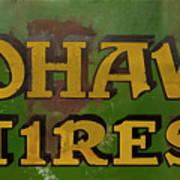 Mohawk Tires Antique Sign Poster