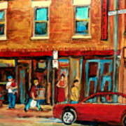 Moishes Steakhouse On The Main By Montreal Streetscene Painter Carole  Spandau  Poster