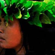 Molokai Wahine Dancer Poster