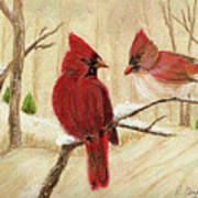 Mom's Favorite Redbirds Poster