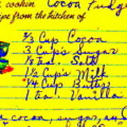 Moms Old Recipe Poster