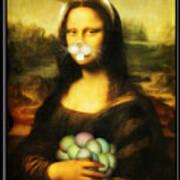 Mona Lisa Bunny Poster