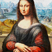 Mona Lisa Painting Poster
