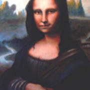 Mona Lisa Replica Poster