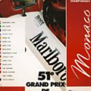 Monaco F1 1993 Poster