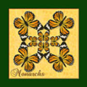 Monarch Butterfly Pin Wheel Poster