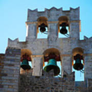 Monastery Bell Tower On Patmos Island Greece Poster