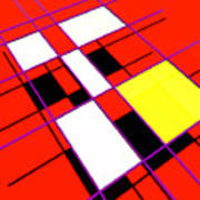 Mondrian Lays A Carpet Poster