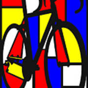 Mondrianesque Road bike Poster