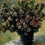 Monet Claude Vase Of Flowers Poster