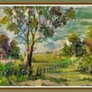 Monetcalia Catus 1 No. 3 Landscape Scene Near Fontainebleau L B With Alt. Decorative Printed Frame. Poster