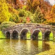 Monetcalia Catus 1 No. 9 - Monet Decides To Paint The Arched Bridge At Stourhead. L A S Poster
