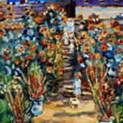Monets Flower Garden Poster