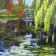 Monets Garden Painting Palette Knife Poster