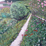 Monet's Garden Path Poster
