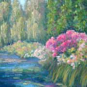 Monet's Pond Poster