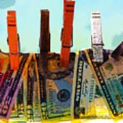Money Laundering  Poster by Karon Melillo DeVega