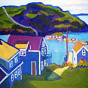 Monhegan Harbor Poster
