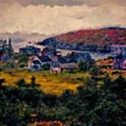Monhegan Island Maine Poster