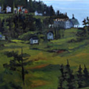 Monhegan View From Lighthouse Hill Poster