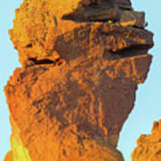 Monkey Face Pillar At Smith Rock Closeup Poster