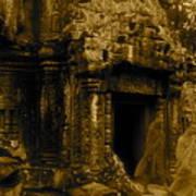 Monks Leaving Angkor Wat Poster