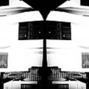 Monochrome Building Symmetry Abstract Poster