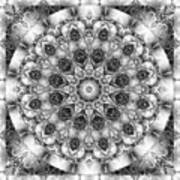 Monochrome Kaleidoscope Poster