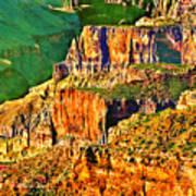 Monolith North Rim Grand Canyon Poster