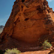 Monolith Sculpture Valley Of Fire Poster