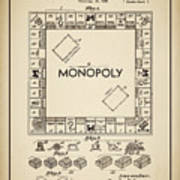 Monopoly Patent 1935 Vintage Border Poster