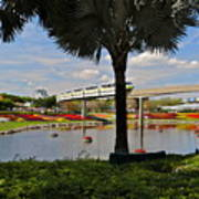 Monorail At Epcot Poster