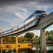 Monorail At Golden Hour Poster