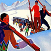 Mont Blanc, Mountain, France, Skiing Poster