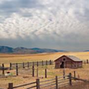 Montana Farmyard Poster